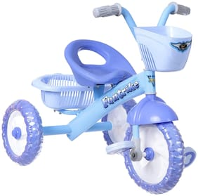 NHR Dash Kids Tricycles With Backrest Seat;Back Storage;And Basket For Boys And Girls (2-5 Years;Blue)
