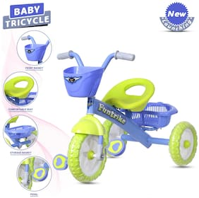 NHR Dash Kids Tricycles With Backrest Seat;Back Storage;And Basket For Boys And Girls (2-5 Years;Green)