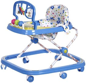 NHR Deluxe Musical Baby Walker with Play Tray and Hanging Toys(Blue)