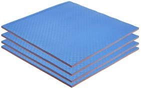 NHR EVA Puzzle Exercise Mat;Gym Tile;EVA Foam Interlocking Tiles;Protective Floor mat for Gym Equipment and Cushion for Workouts with 25 MM Thickness 40 inches x 40 inches (Set of 4) Blue