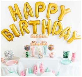 NHR HAPPY BIRTHDAY Letters Foil Toy Balloons