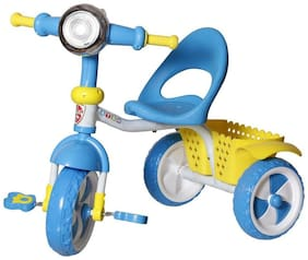 NHR Kids tricycle with storage basket, Lights and music. Blue