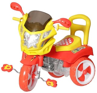 NHR Kids tricycle with under seat storage space, Lights and music.