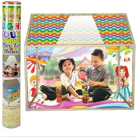NHR Multicolor Kids LED Light Play Tent House with Wheels