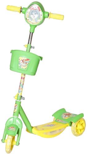 NHR Noddy Deluxe 3 Wheel Kids Scooter with Storage Basket n Horn(Green)