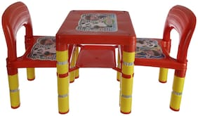 NHR Novelty Dolphin 2 Chairs and 1 Table Set (Red)