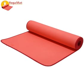 NHR Paramount Luxury Stick Yoga Mat Anti Skid Exercise mat for Gym Workout and Flooring Exercise - Long Size Yoga Mat for Men Women (with Carry Strap) (6mm;Red)