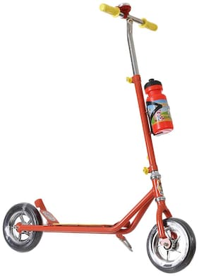 NHR Power Ranger Scooter with Sipper, Bell n Stand- Large Size (Height adjustable to 90 cm for Kids upto 10 years)- Red