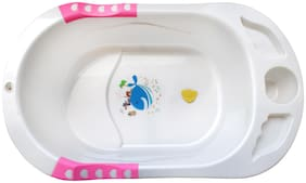 NHR Presents New Born Infant Baby Non-Toxic Plastic Bath Tub for 0 to 9 Month