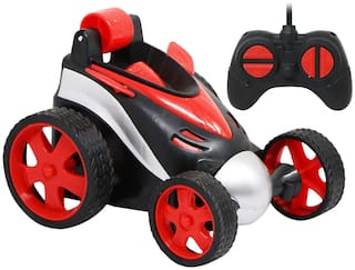 NHR Remote Control Car;RC Stunt Vehicle;360°Rotating Rolling Radio Control Electric Race Car;Boys Toys Kids (10+ Ages;Red)