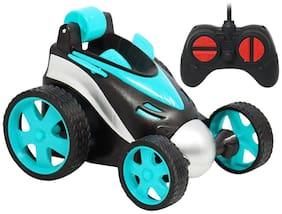 NHR Remote Control Car;RC Stunt Vehicle;360°Rotating Rolling Radio Control Electric Race Car;Boys Toys Kids (Blue)