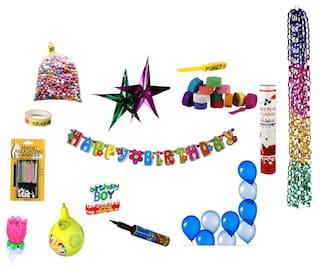 NHR Special Birthday Decoration Kit For Boy 67 Pcs
