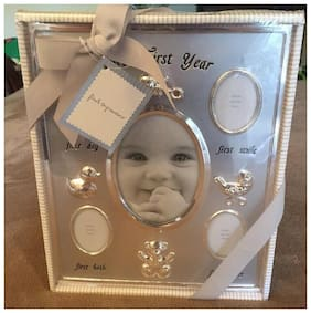 """NIB! First Impressions """"My First Year""""~Exclusively At Macy's~Silver Plated Frame"""
