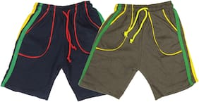 Night Wear - Boy's Shorts - Pack of 2 - 5/6 Years - Navy/Green