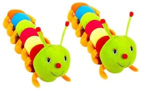 Nihan EnterprisesMulticolor caterpillar (55cm) (set of 2) - 10 cm (Multicolor)