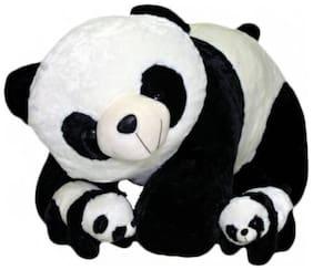 Nihan Enterprises Lovable Soft White And Black Panda With 2 Baby Panda - 40 CM