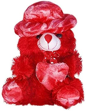 Nihan Enterprises Red Teddy Bear - 30 cm