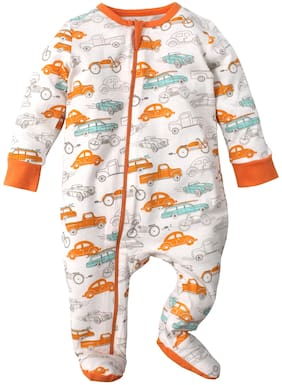 Nino Bambino Baby boy Cotton Printed Sleep suit - Multi