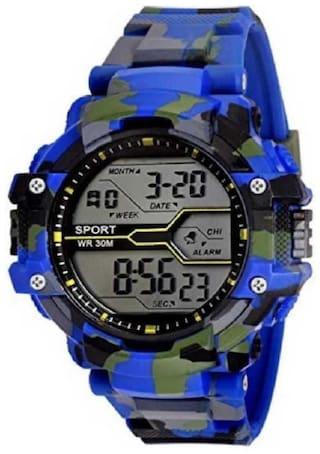 niyati fab army blue digital