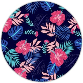 Nockout Designer Round Gaming Non-Slip Rubber Base Mouse Pad for Laptop and Computer |(20 cm x 20 cm  Flowers)