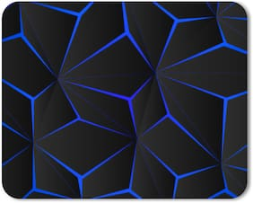 Nockout Designer Gaming Non-Slip Rubber Base Mouse Pad for Laptop and Computer |(24 cm x 20 cm, 3D Abstract)