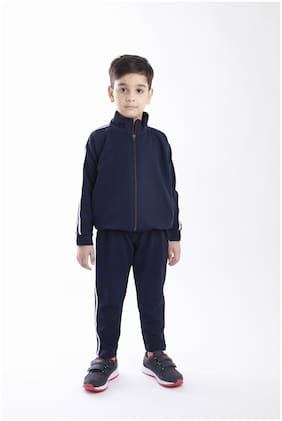 NSZO Boy Cotton blend Tracksuit - Blue