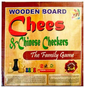 Nutan India Wooden Chess & Chinese Checkers