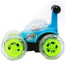 Nw Toy Chehar Enterprise Doraemon 360 deg Stunt Car with Remote Control and Rechargeable Battery