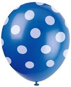 Nxt Gen Blue Polka Balloons Pack Of 50