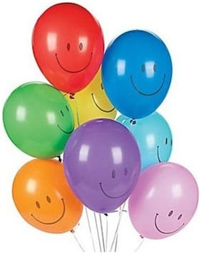 Nxt Gen Colourful Smiley Face Balloons Pack Of 50