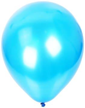 Nxt Gen Sky Blue Metallic Balloons Pack Of 50