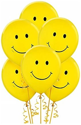 Nxt Gen Yellow Smiley Face Balloons Pack Of 50