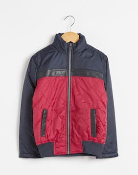 f17bb80bbd6556 Octave Boy Nylon Solid Winter Jacket - Red