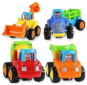 ODDEVEN,Unbreakable Automobile Car Toy Set For Children Kids Toys Construction Team Set Of 4