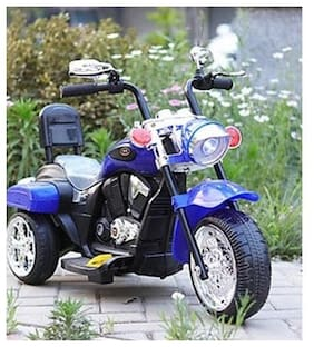 Oh Baby 3-Wheel Special Battery Operated Ride On Bullet Bike And 25 Kg Weight Capacity For Your Kids (Assorted Color)