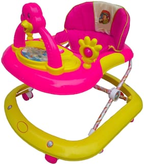 Oh Baby Baby Kid'S Musical Dora Activity Walker - Height Adjustable - 9 Months + Baby - Wide Base 8 Wheel Walker, Music With Light For Kids...