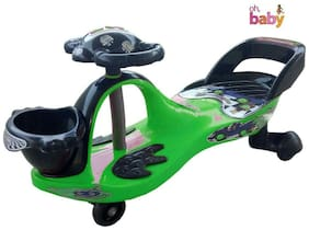 Oh Baby Baby Frog Shape With Back Support Musical Light Magic Car For Your Kids SE-MC-27
