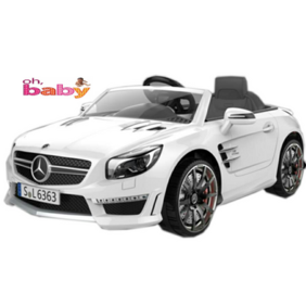 Oh Baby;Baby Battery Operated WHITE Color MERCEDES CAR With USB Connectivity For Music;Remote Control With Dual Door Opening With Double Motor And Double Battery For Your Kids SE-BOC-43