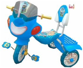 Oh Baby Baby Police Bike Musical With Tubeless Tyre Blue Color Tricycle For Your Kids SE-TC-29