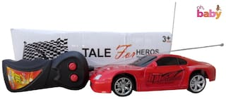 OH BABY, BABY 3D LIGHT & MUSICAL POWER WITH AUTOMATIC SENSOR SUPER RACER RED COLOR  'Remote Control'  CAR FOR YOUR KIDS SE-ET-12