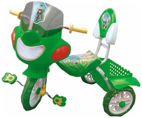 Oh Baby Baby Police Bike Musical With Tubeless Tyre Green Color Tricycle For Your Kids SE-TC-31