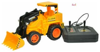 OH BABY, BABY & MUSICAL POWER WITH Remote Controlled YELLOW COLOR TRUCK STANT CAR with CAR FOR YOUR KIDS SE-ET-30