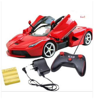 OH BABY;BABY & MUSICAL POWER WITH Remote Controlled RED COLOR Ferrari with Opening Door CAR FOR YOUR KIDS SE-ET-34