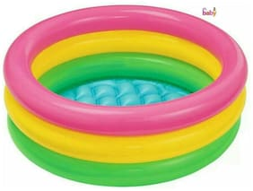 OH BABY, BABY  INTEX Multi Color TUB Inflatable Water  6 inch heavy plastic Pool FOR YOUR KIDS SE-AT-08