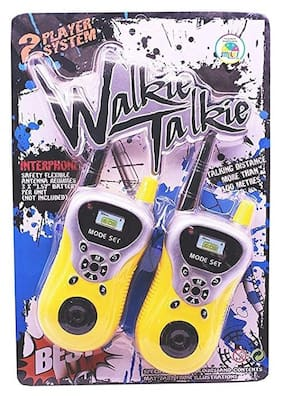 OH BABY, BABY  Yellow And White Plastic Walkie Talkie Toy Set For Kids  FOR YOUR KIDS YYI-OPK-SE-ET-597