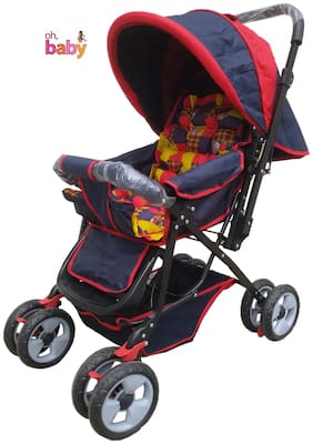 Oh baby, baby Full Size Stroller & Pram With 8 Wheels And Mosquito Net For Your Kids SE-PR-04