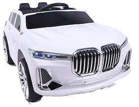 Oh Baby;Baby Battery Operated WHITE Color OFFICIAL LICENSED PRODUCT BMW CAR With USB Connectivity For Music;Remote Control;With Double Motor And Double Battery;DUAL DOOR OPENING