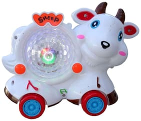 OH BABY, BABY 3D LIGHT & MUSICAL POWER WITH AUTOMATIC SENSOR WHITE COLOR CUTE ANIMLAS COW FOR YOUR KIDS SE-ET-17