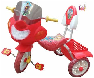 Oh Baby Baby Police Bike Musical With Tubeless Tyre Red Color Tricycle For Your Kids SE-TC-28