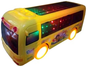 OH BABY BABY Q-BUS IN THIS 3D LIGHT & MUSICAL POWER WITH AUTOMATIC SENSOR THAN TOUR travelling YELLOW COLOR BUS FOR YOUR KIDS SE-ET-09
